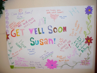 Get well messages from my English students