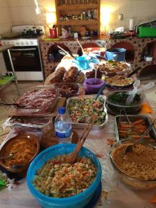 Thanksgiving spread, photo by Carol Knox