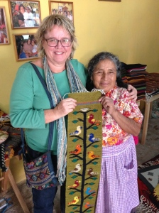 Me with weaver Angela in Teotitlán del Valle
