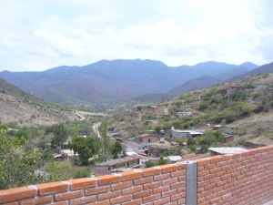 Michelle's terrace in Teotitlán