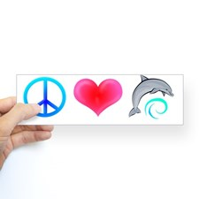 peace_love_bottlenose_dolphin_bumper_bumper_sticker