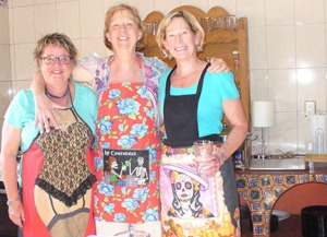 More aprons, at Michelle's house, 2015