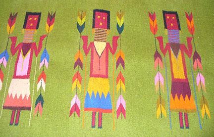 corn goddess rug
