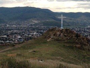How many steps to the cross over Oaxaca?