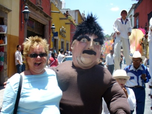 San Miguel de Allende; I might have been leading the parade that day, a la Ferris Bueller