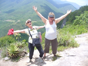 With BFF Liduina at Hierve del Agua