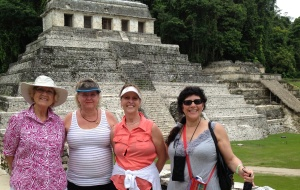 Girlfriend trip to Chiapas, 2014, at Palenque ruins