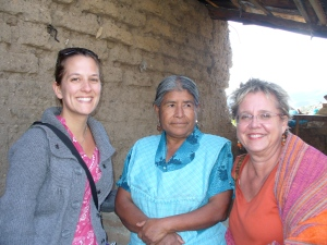 With En Vía co-founder Emily and one of its women borrowers, 2010.