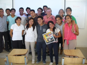 Speaking to Oaxacan college students about writing and community college, 2013