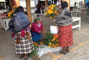 Zapotec women at the Teotitlán morning market