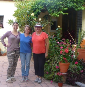 Mica, Sarah and me at Las Calandrias